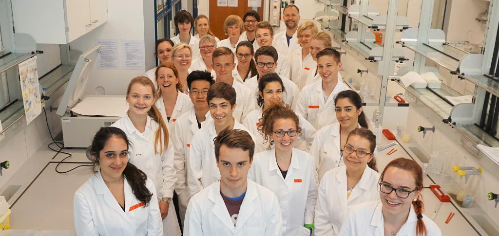 Nachwuchsforscher im Labor